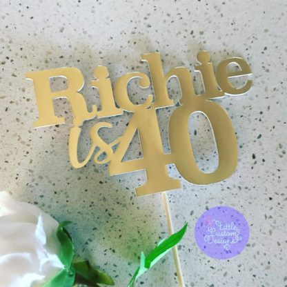 Custom Name and Number Cake Topper
