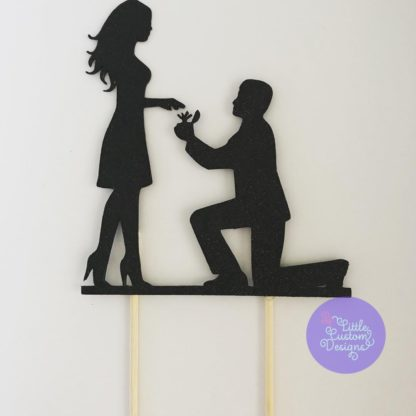 Marriage Proposal Cake Topper