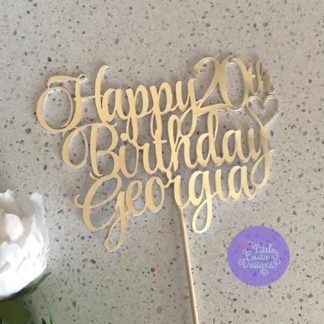 Happy Birthday Name Number Style Font