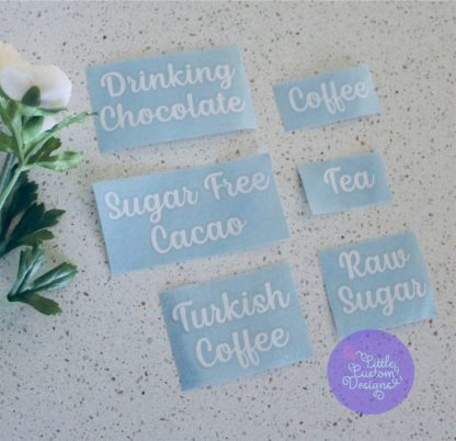 Small Pantry Labels