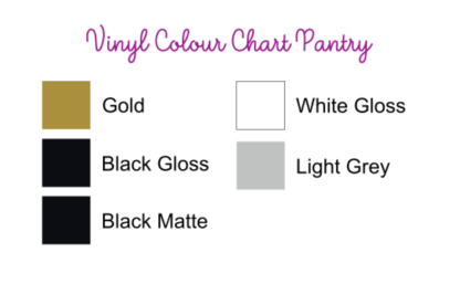 Vinyl Colour Chart Pantry