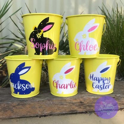 Yellow Easter Tins