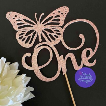 One butterfly cake topper