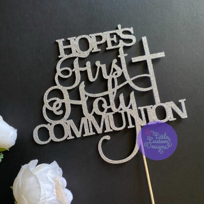 First Holy Communion Cross Cake Topper