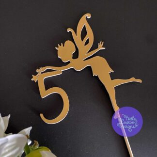 Fairy with Number Cake Topper