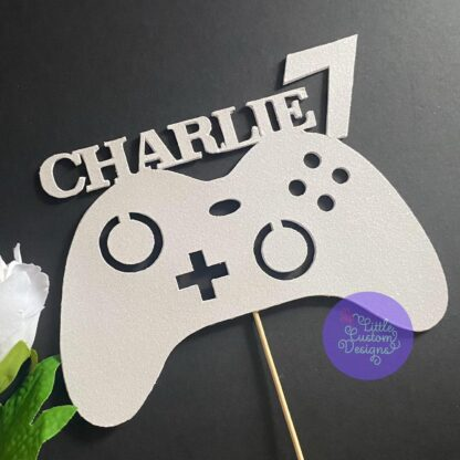 Gaming Controller Name and Number Cake Topper