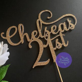 Perfect Script Name and Number 21st Cake Topper